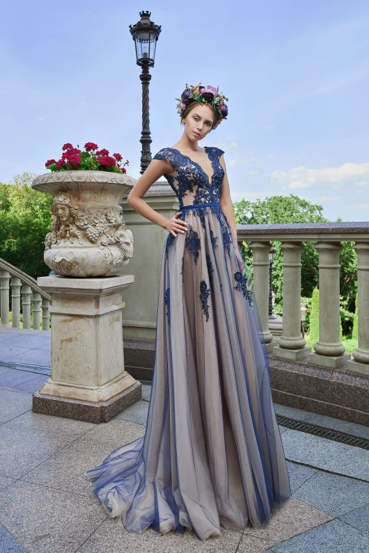 Evening Dress V-164
