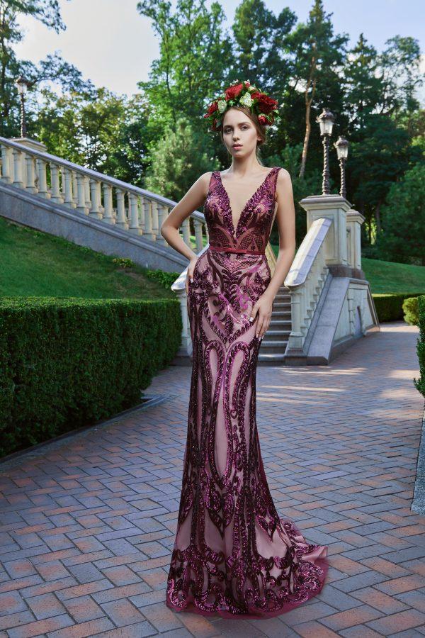 Evening Dress V-175