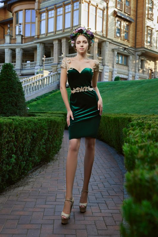 Evening Dress V-182